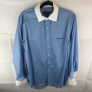 Donald Trump Cuff Dress Shirt 16.5 34/35 2 Tone